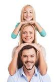 Vi är familjen! Royaltyfri Bild