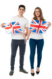 Vi är stolta brittiska supportrar Arkivfoton