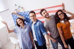 Vi är verkliga patrioter av vårt land Arkivfoto