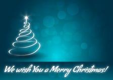 Vi önskar dig ett hälsningkort för glad jul stock illustrationer