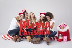 Vi önskar dig glad jul! Royaltyfri Fotografi