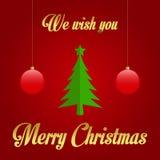 Vi önskar dig glad jul - illustration Royaltyfri Fotografi