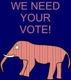 Vi behöver ditt röstar Royaltyfri Fotografi