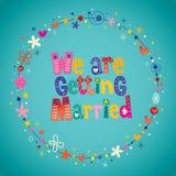 Vi får att gifta sig Royaltyfria Foton