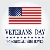vi förseglar och banerillustrationdesignen Vektor för veterandag Teckning för veterandag royaltyfri illustrationer