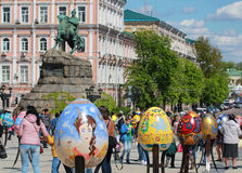 VI festival dell'ucranino delle uova di Pasqua Immagine Stock