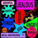 Vi har känslor Arkivbild