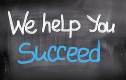 Vi hjälper dig att lyckas begrepp arkivbild