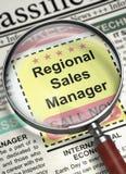 Vi hyr den regionala försäljningschefen 3d Arkivfoton