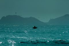 Vi kan finna fred som är borttappad i havet Fotografering för Bildbyråer