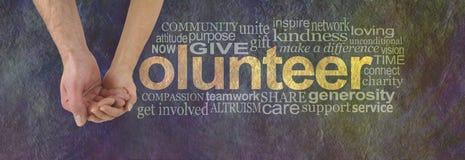 Vi kan ställa upp som frivillig tillsammans royaltyfri bild