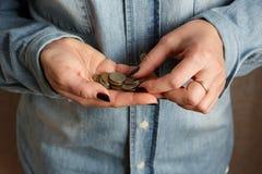 Vi tror små pengar Arkivfoton