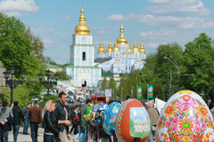 VI ukrainarefestival av påskägg Arkivfoton