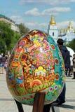 VI ukrainarefestival av påskägg Arkivbild