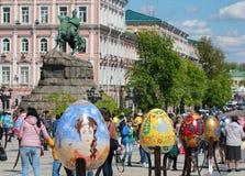 VI ukrainarefestival av påskägg Fotografering för Bildbyråer