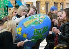 VI ukrainarefestival av påskägg Royaltyfri Fotografi