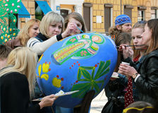 VI Ukrainian festival of Easter eggs Royalty Free Stock Photography
