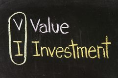 VI VALUE INVESTMENT Royalty Free Stock Photos