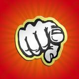 Vi voglio! indicare la retro illustrazione di vettore del dito Fotografie Stock