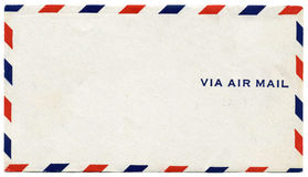Via Airmail Envelope Stock Image