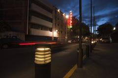Via al neon fotografie stock