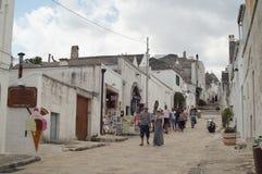 Via in Alberobello Immagine Stock Libera da Diritti