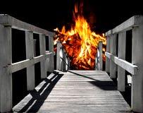 Via all'inferno Fotografia Stock Libera da Diritti