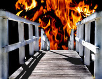 Via all'inferno Fotografie Stock Libere da Diritti