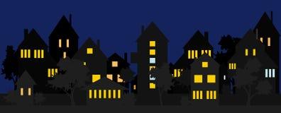 Via alla notte Fotografia Stock Libera da Diritti