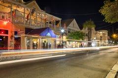 Via alla notte, Key West, FL di Duval Fotografie Stock Libere da Diritti