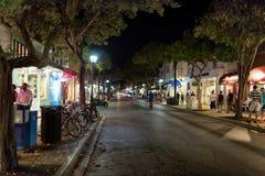 Via alla notte, Key West, FL di Duval Fotografie Stock