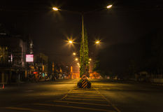 Via alla notte. Fotografia Stock