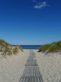 Via alla spiaggia Fotografia Stock Libera da Diritti