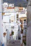 Via in Almunecar, Andalusia, Spagna Immagini Stock Libere da Diritti