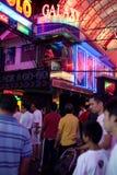 Via ambulante di Pattaya Fotografia Stock Libera da Diritti