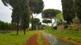 Via antica Appia Stock Foto's
