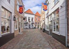 Via antica con i ciottoli, Heusden, Paesi Bassi Fotografia Stock