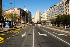 Via aperta di Belgrado fotografia stock