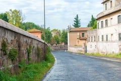 Via Appia, Rome, Italy. Royalty Free Stock Photo
