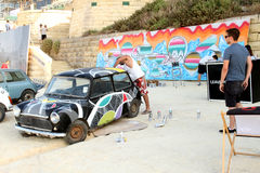 Via Art Festival di Sliema Fotografia Stock