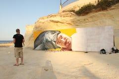 Via Art Festival di Sliema Fotografie Stock Libere da Diritti