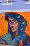 Via Art Graffiti di Valparaiso Fotografie Stock