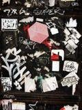 Via Art Graffiti Stickers ed etichette dell'indicatore Fotografie Stock Libere da Diritti