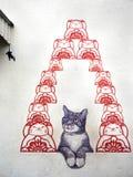 Via Art Mural a Georgetown, Penang, Malesia fotografia stock