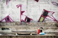Via Art Skateboard Lifestyle Hipster Concept fotografie stock libere da diritti