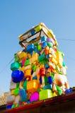 Via-arte sulla fabbrica di progettazione di Flacon a Mosca, Russia Immagine Stock Libera da Diritti