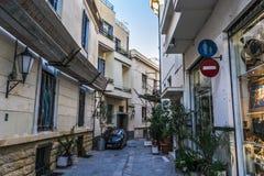 Via a Atene Fotografie Stock Libere da Diritti