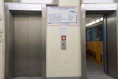 Via Balbi - Corso Dogali Elevator in Genova Royalty Free Stock Images