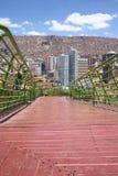 Via Balcon den fot- banan i La Paz, Bolivia Royaltyfria Bilder