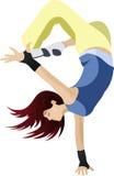 Via-ballo di dancing della ragazza nel vettore Fotografie Stock Libere da Diritti